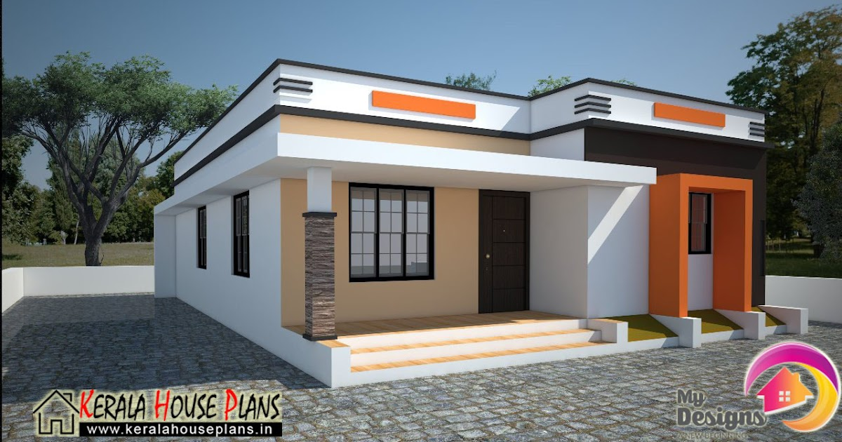 Contemporary Elevation Single Floor : Low cost house in kerala sqft plans