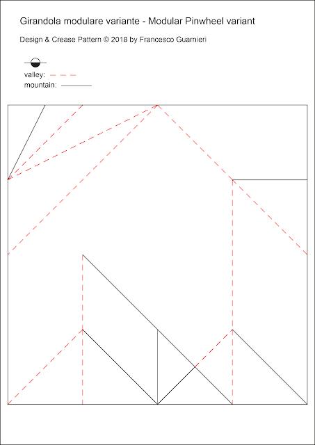 Origami CP, Girandola modulare, variante - Modular Pinwheel, variant by Francesco Guarnieri