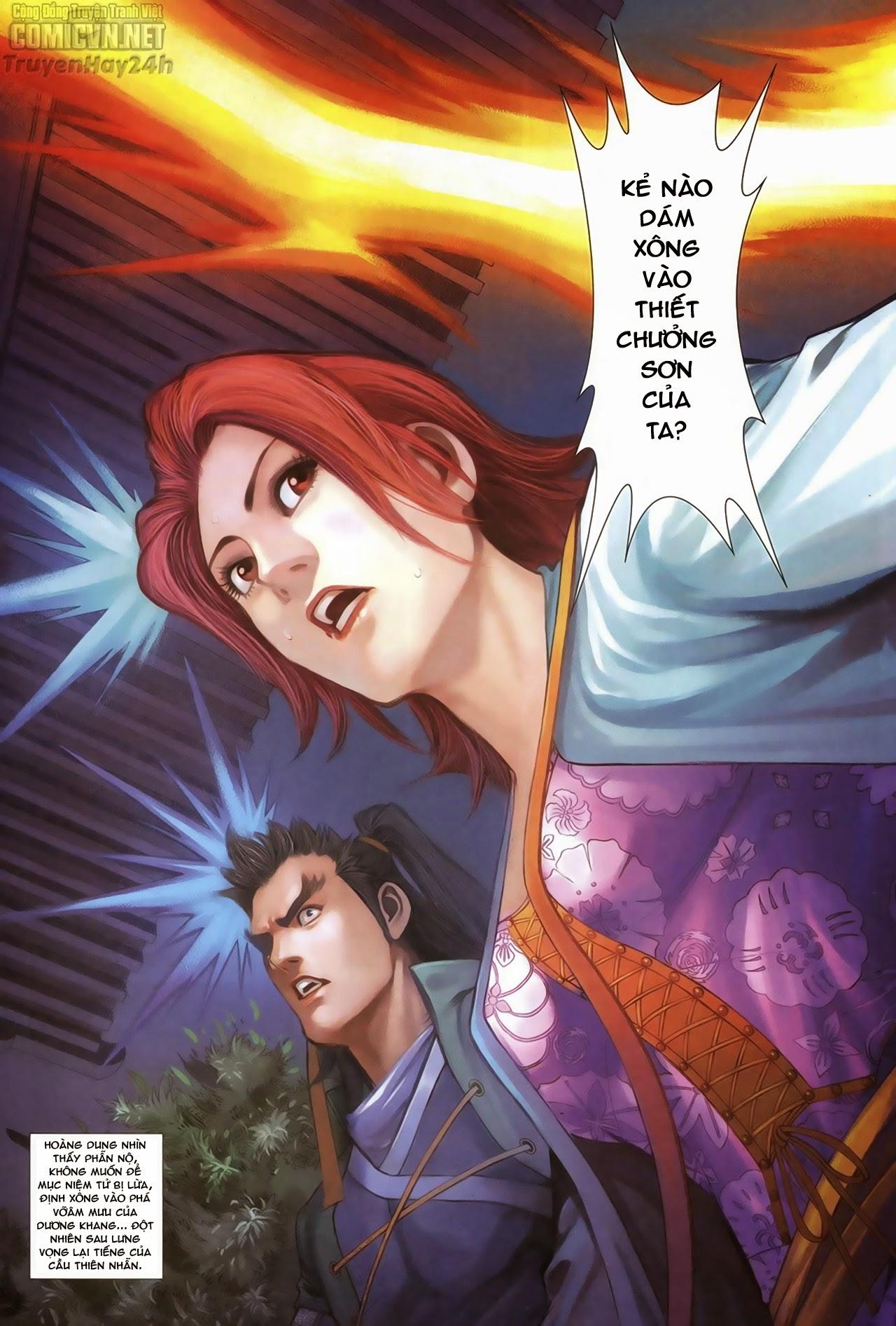 Anh Hùng Xạ Điêu anh hùng xạ đêu chap 68: di thư chân kinh - lừa tình trang 34