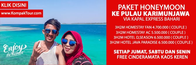PAKET PRIVATE HONEYMOON KARIMUNJAWA 3 HARI 2 MALAM