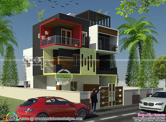 2585 square feet modern house by Team tectonics