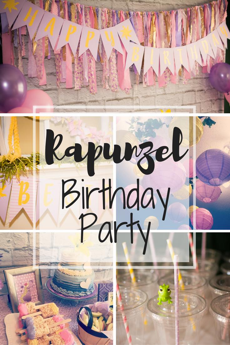 Raley S Rapunzel 3rd Birthday Party Poppy Grace
