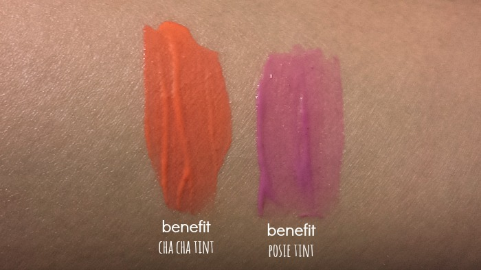 benefit cha chat tint, lollitint review and swatches