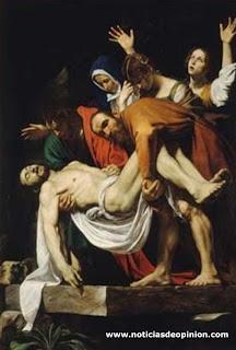 Visita del Papa a Madrid: Benedicto XVI - JMJ 2011 - 'El descendimiento', Caravaggio