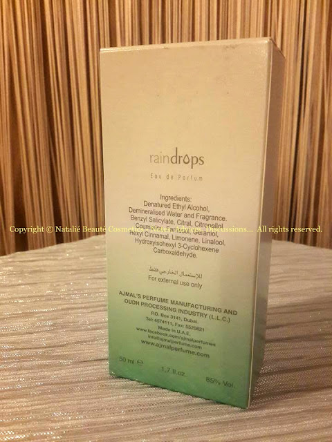 RAINDROPS by AJMAL PERSONAL PERFUME REVIEW AND PHOTOS NATALIE BEAUTE