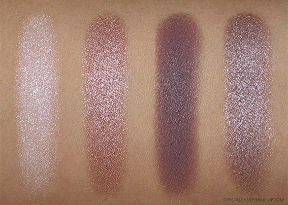 Clarins Fall 2016 Swatches 4-Colour Eyeshadow Palette 02 Rosewood Review