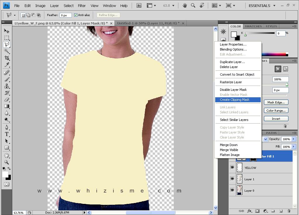 cara membuat baju dengan photoshop