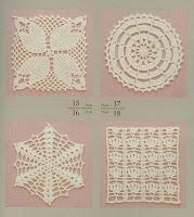 Motivos Florais de Crochê Com Gráfico Nº 5