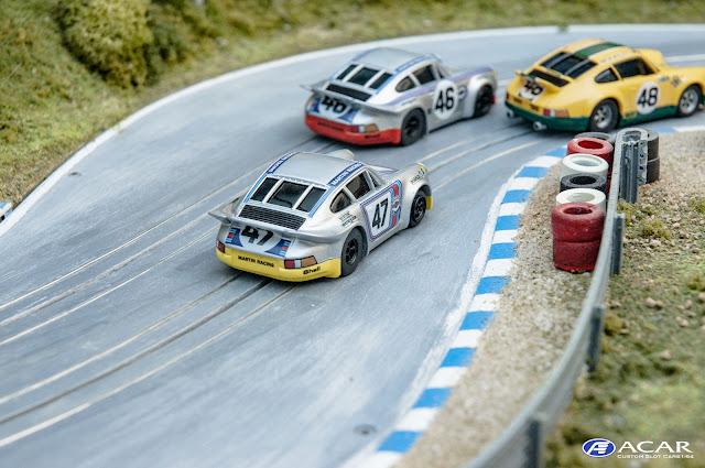 Slotcar Custom Made 24 Le Mans 1973- Porsche 911 Carrera RSR