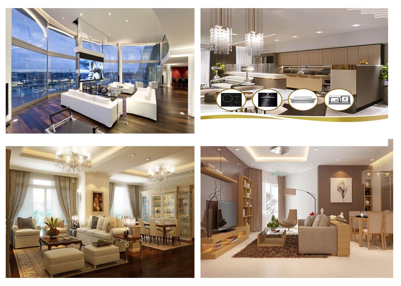 Nội thất căn hộ tại chung cư Housico Grand Tower Nguyễn Xiển