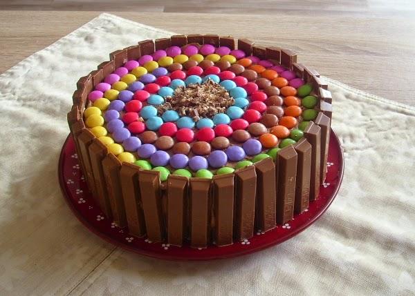 Timmys Basteleien Kitkat Smarties Torte