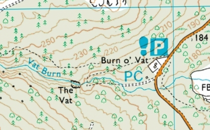 Map of the Burn o' Vat