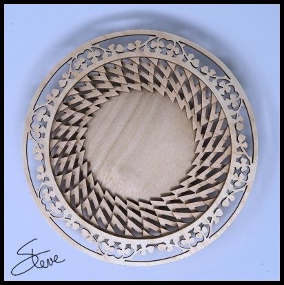 Scrollsaw Workshop: Stacked Ring Basket Scroll Saw Pattern