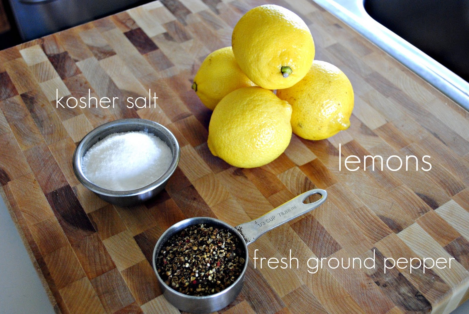 Pepper, salt, lemon