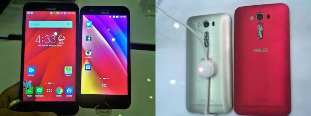 ASUS Zenfone 2 Laser 5 inch vs 5.5 inch Side by Side