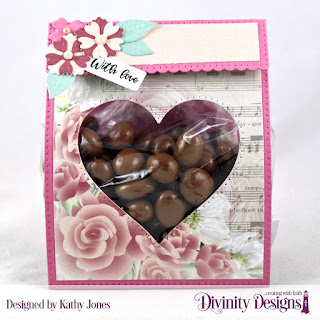 Divinity Designs Stamp Set: Festive Favors Tag Sentiments, Custom Dies: Festive Favors, Paper Collection: Romantic Roses