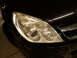 my car with headlights not polished