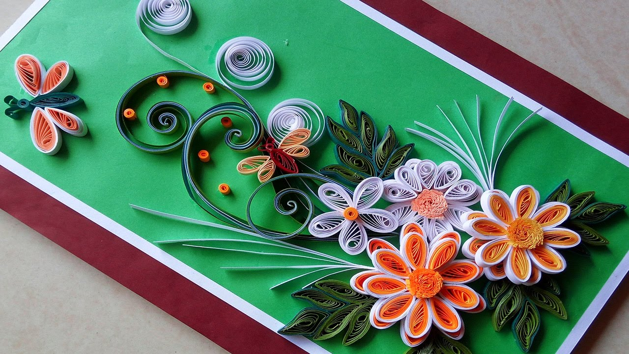 Quilling cards how to make paper quilling greeting card quilling cards how to make paper quilling greeting card kristyandbryce Image collections