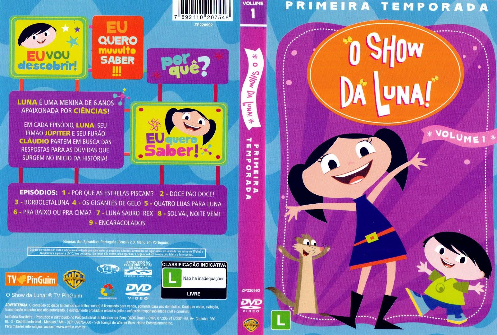 Capa DVD O Show Da Luna Primeira Temporada Volume 1 e 2
