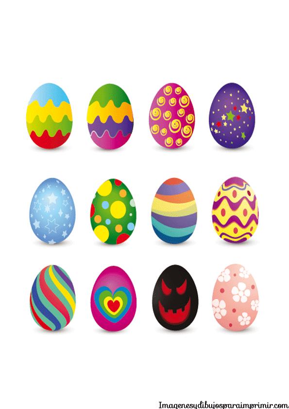 Huevos pascua para imprimir   Imagenes y dibujos para imprimir