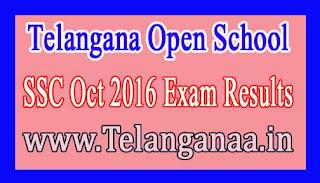 Telangana Open School SSC Oct 2016 Exam Results
