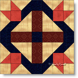 David and Goliath quilt block image © Wendy Russell