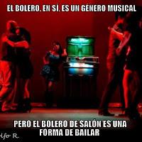 el bolero es un género musical y el bolero de salón es una forma de bailar