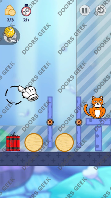 Hello Cats Level 57 Solution, Cheats, Walkthrough 3 Stars for Android and iOS