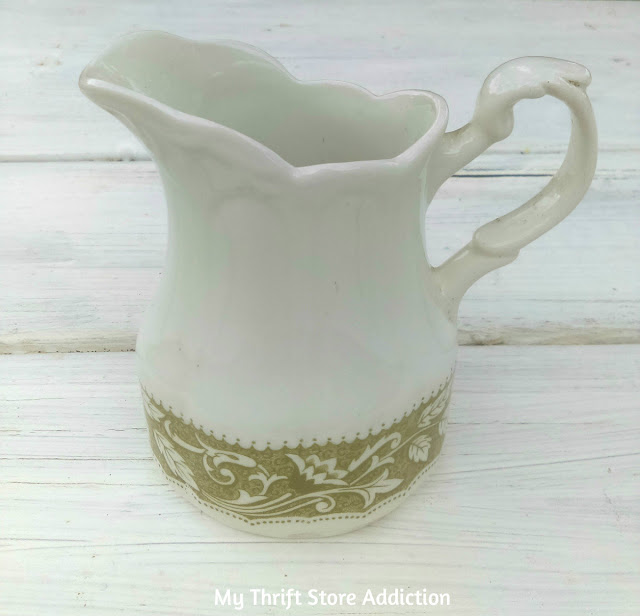 thrift store Meakin English ironstone creamer