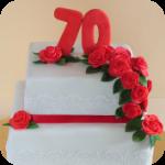 Rosen Geburtstagstorte