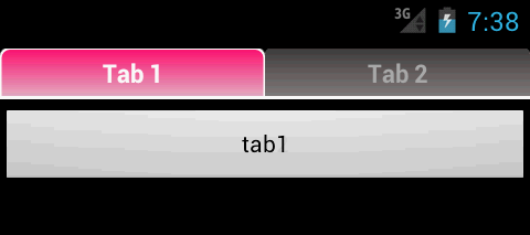 How to change the background color of a tab and indicator in