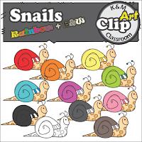 Snail Clip Art Vivid Colors