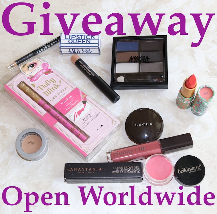 Mid-Year Makeup Giveaway 2018: Open worldwide through June until July 15.