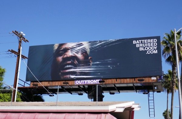 Battered Bruised Bloody billboard