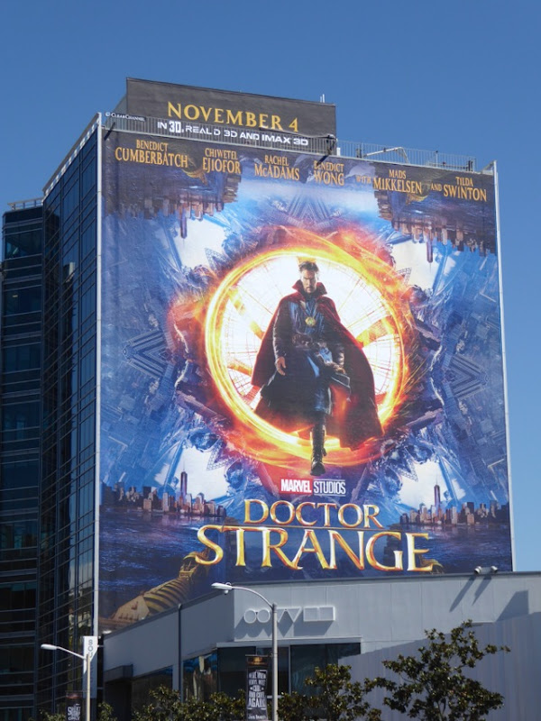 Giant Doctor Strange film billboard