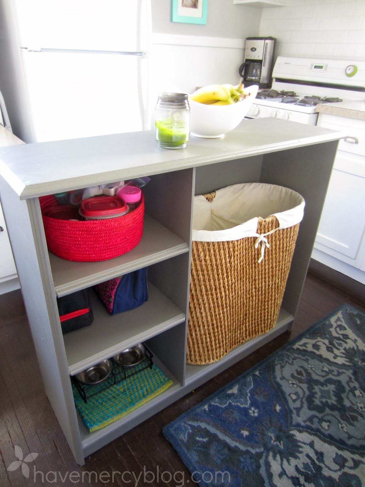 Have Mercy Kitchen Island Out Of A Bookcase
