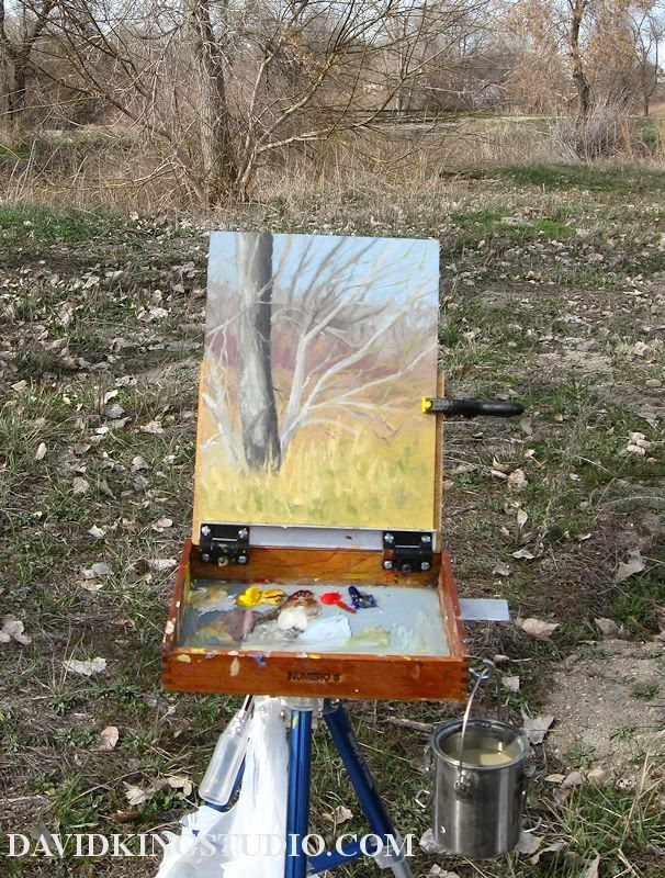 plein air art painting palette pochade oil