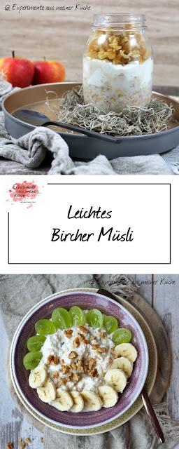 Leichtes Bircher Müsli | ONO | Frühstück | Haferflocken | Essen | Rezept | Weight Watchers