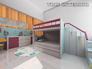 Jasa Pembuatan Setting Interior Kamar Tidur Anak Kids Bedroom