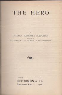 Title Page of The Hero by W. Somerset Maugham First Edition 1901