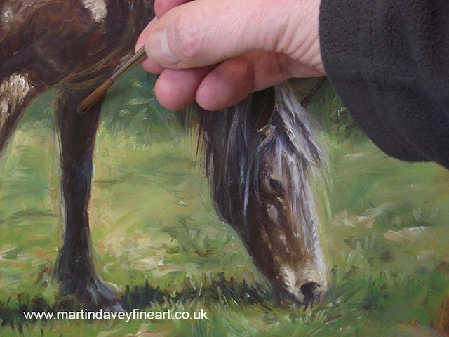 M P Davey brown horse art WIP