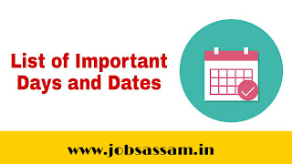 List of Important National and International days & dates for Railway, Banking, SSC & Banking Exams