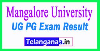 Mangalore University Results 2018 Mangalore University UG PG Result 2018