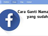 2 Cara Mengganti Nama di Facebook Dalam 5 Menit