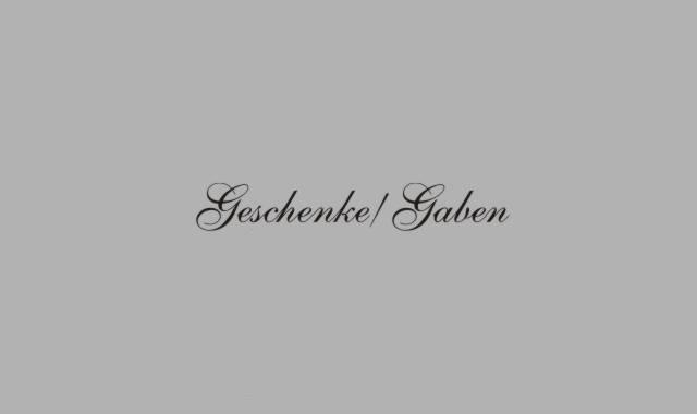 Schriftzug Gaben/Geschenke
