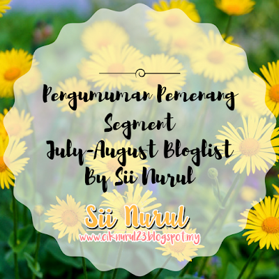 Menang Segment July-August Bloglist By Sii Nurul