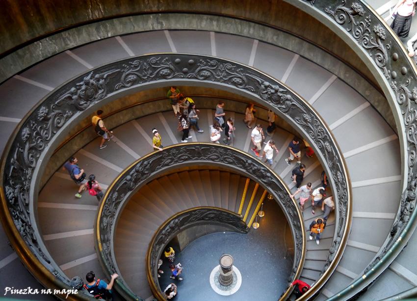 Muzea Watykańskie - schody