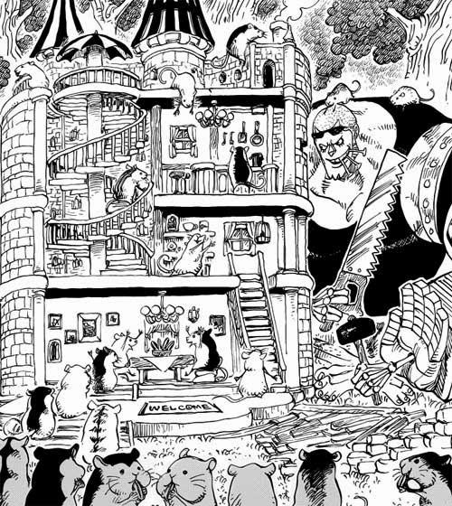 海賊王(One Piece)分析文庫: 海賊王738分析 - 托雷波爾軍特別幹部砂糖 (4399 - 20140220)