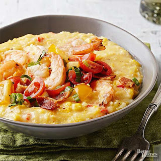 Shrimp and Grits with BLT Relish