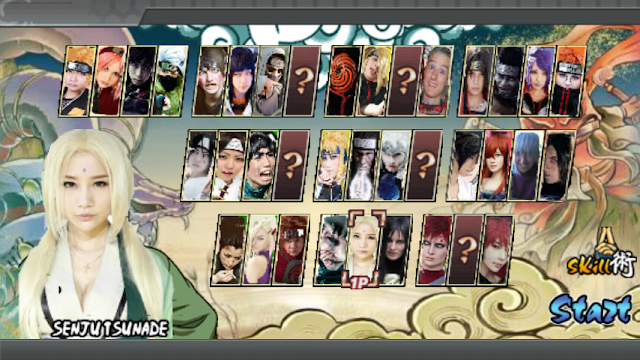 Download Naruto Senki Cosplay MOD Full Character Apk Game Terbaru